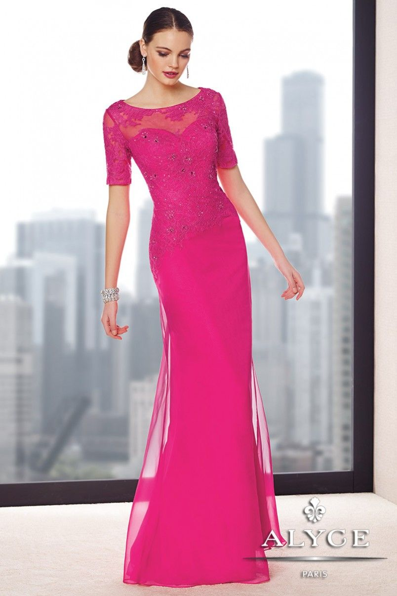 Elegant Evening Gown with Elbow Length Sleeves 29694 from SIMPLE ...
