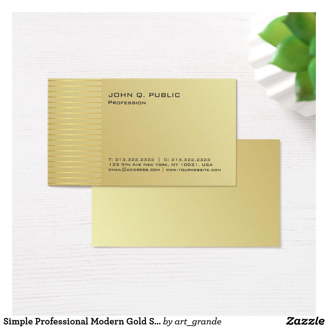 Simple Professional Modern Gold Signature Uv Matte Business