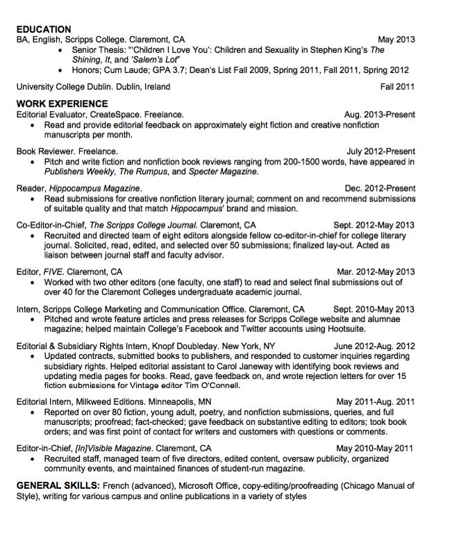 Sample Editorial Evaluator Resume Examples Resume Cv