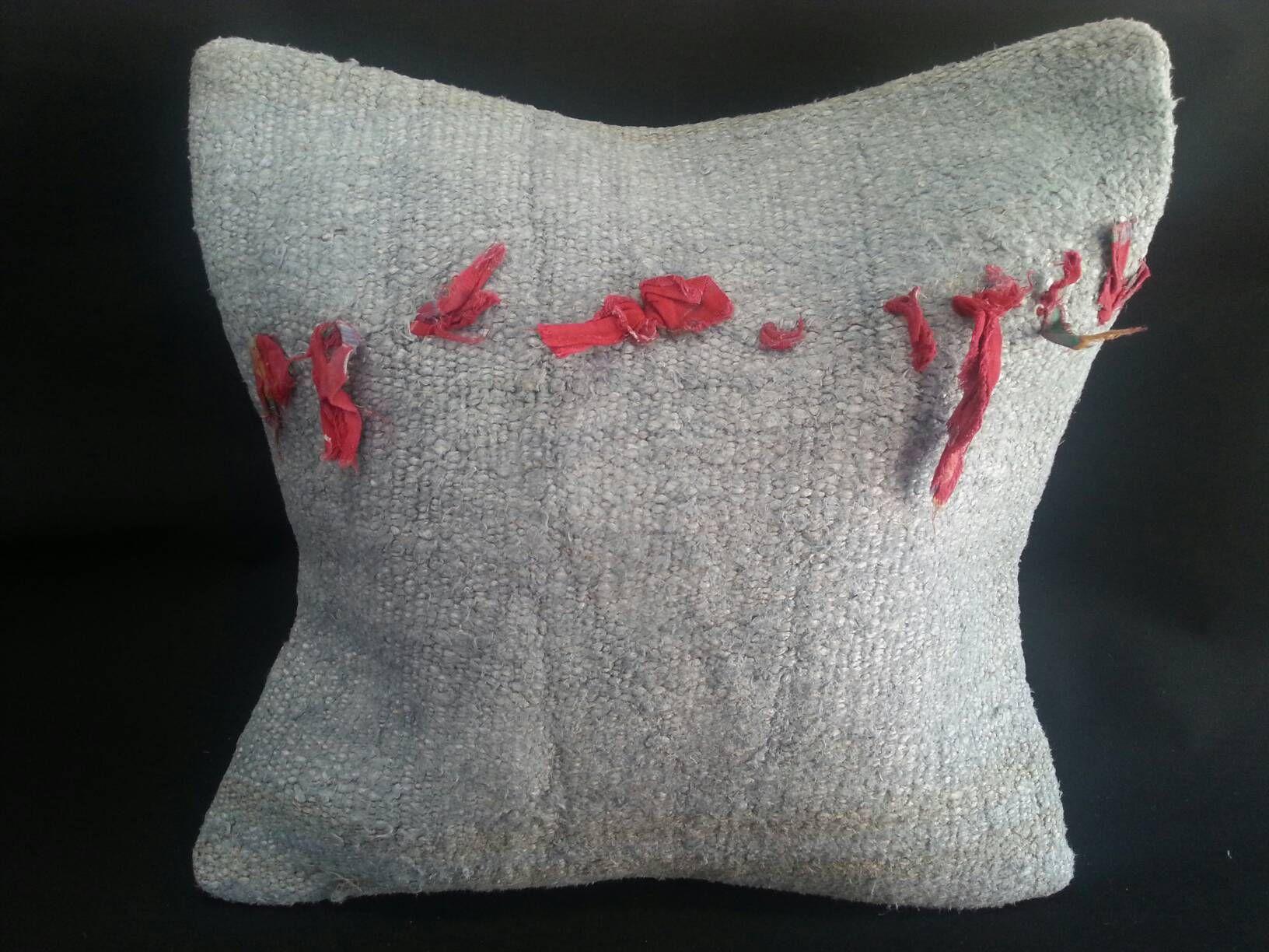 Handmade Decorative Turkish Kilim Hemp Pillow 20x20 Inches Etsy
