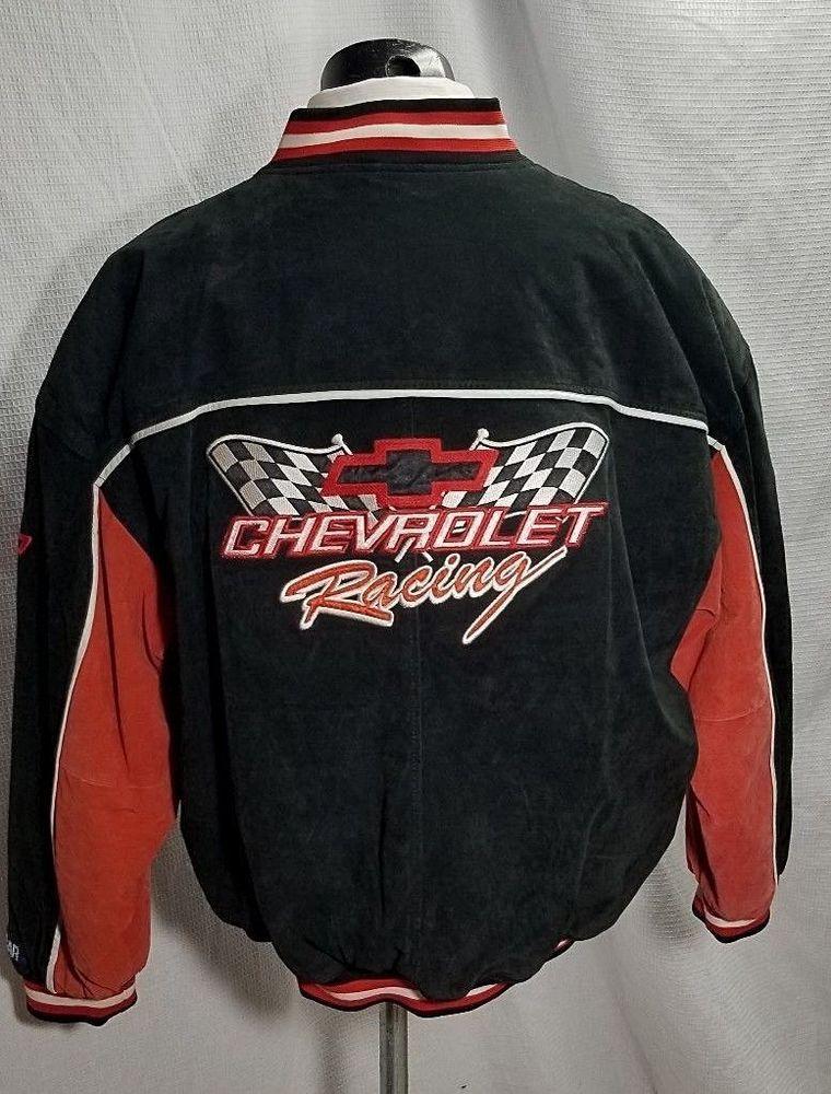 04964b883b4977 Chevy Leather Racing Jacket XL ESSEX Racing Champions NASCAR Chevrolet  Racing #Essex #Chevrolet