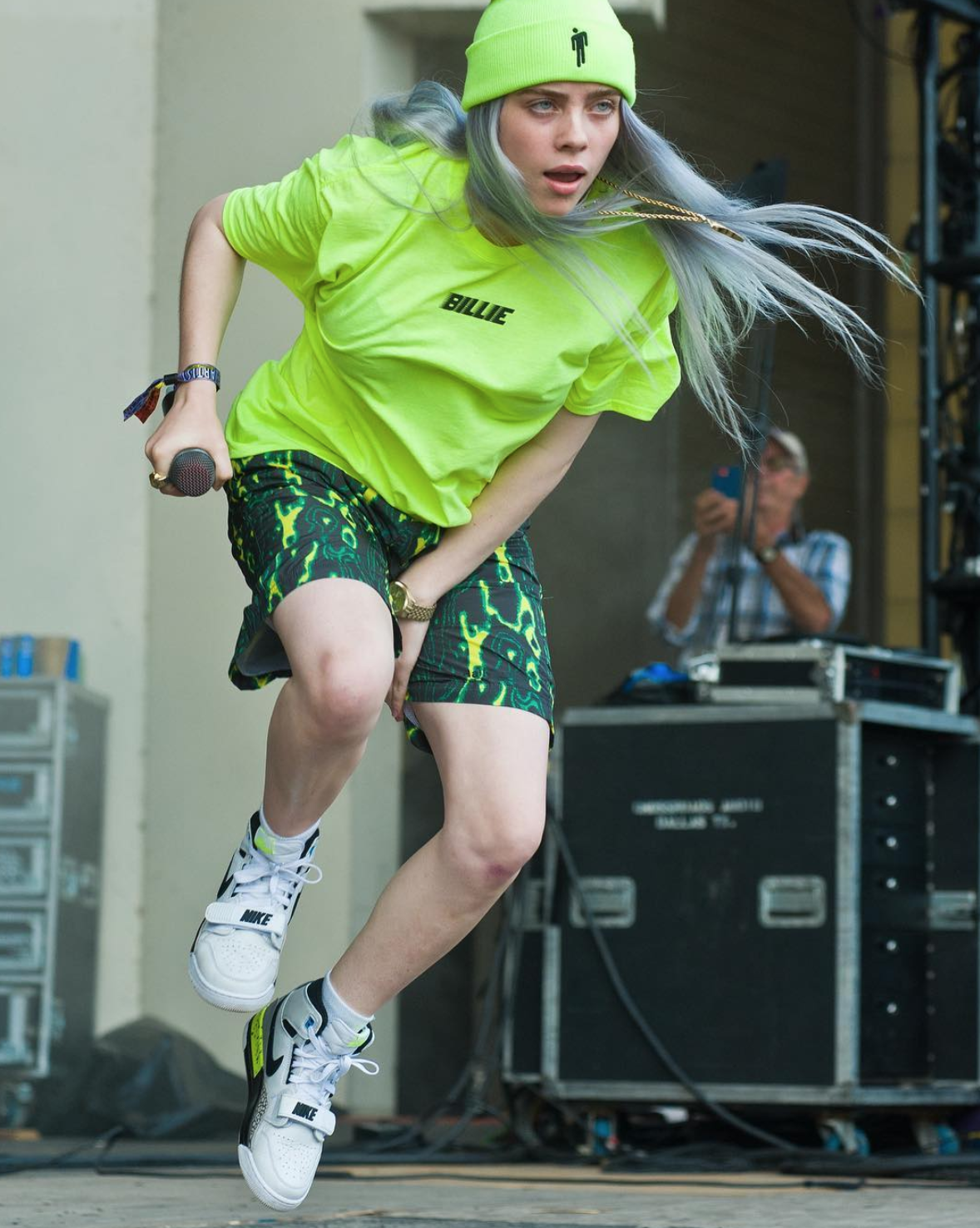 Billie Eilish In The Air Jordan Legacy 312 Billie Billie Eilish Celebrities