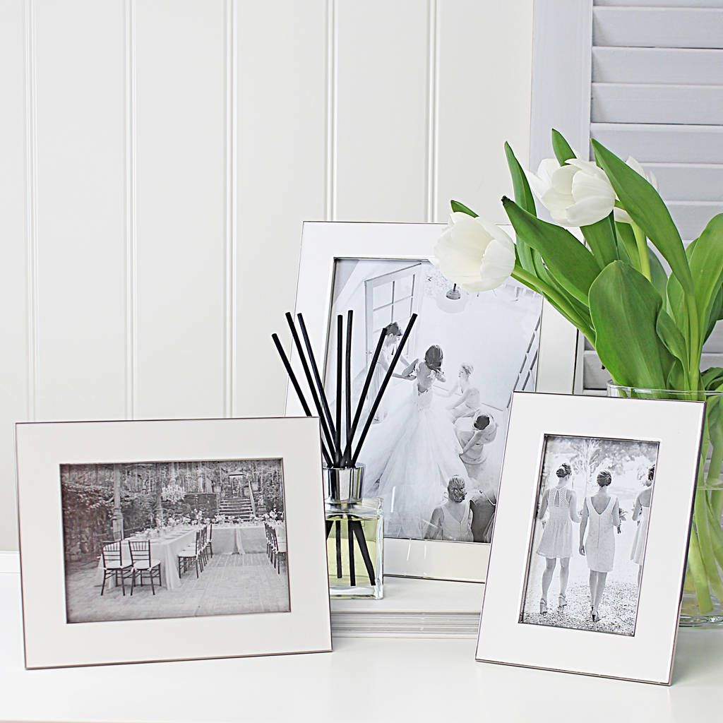 Nickel And White Fine Photo Frame In 2019 Frame Picture