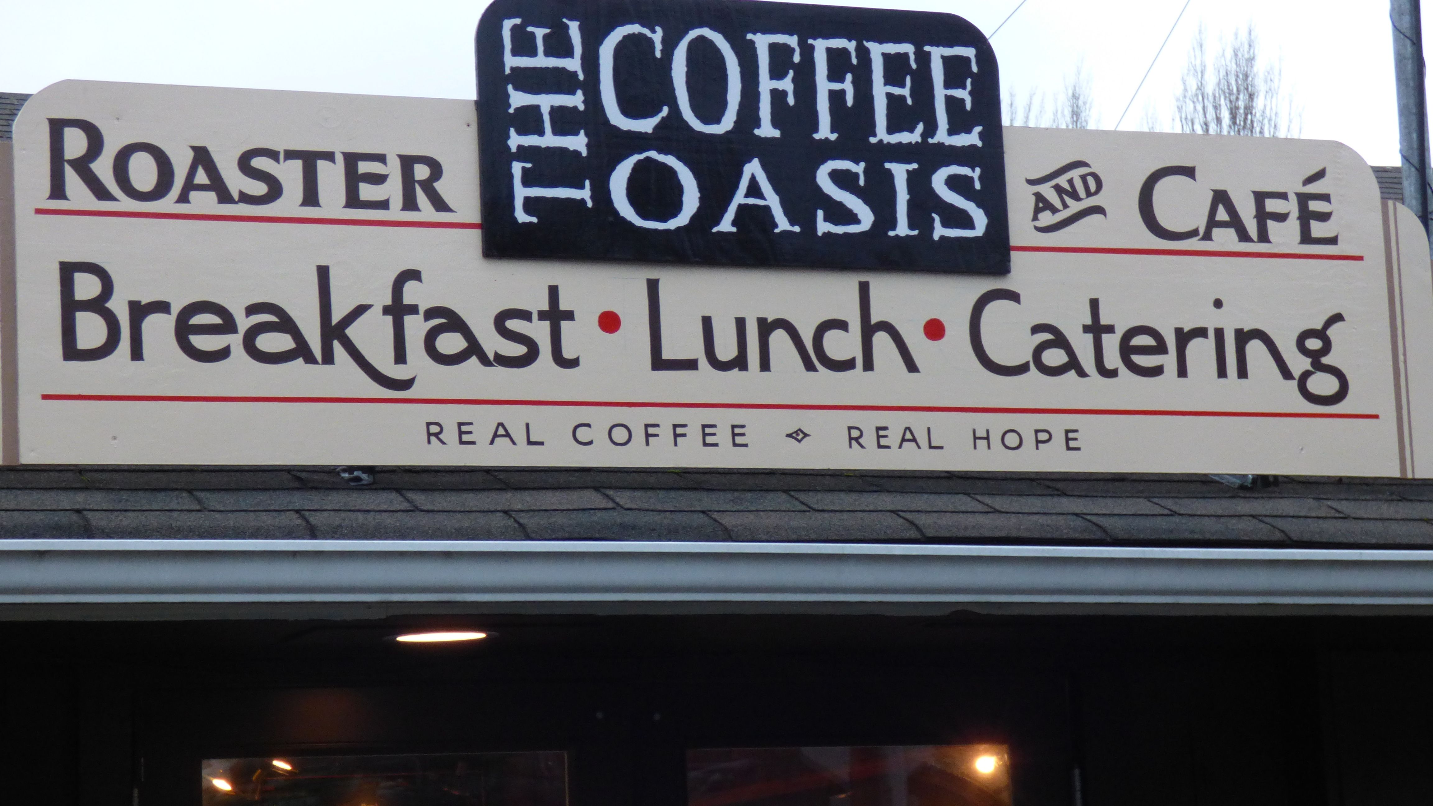 The Coffee Oasis Poulsbo Sign Kitsap Charity Kitsapcares Bremerton Poulsbo Port Orchard Photo Ken Rury S Coffee Shop Business Real Coffee Lunch Catering