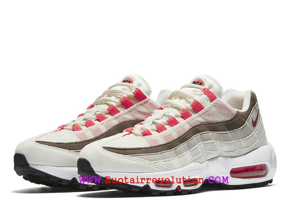 5499af1f865 Nike Wmns Air Max 95 OG - Chaussures Nike Sportswear Pas Cher Pour Femme  Kaki blanc