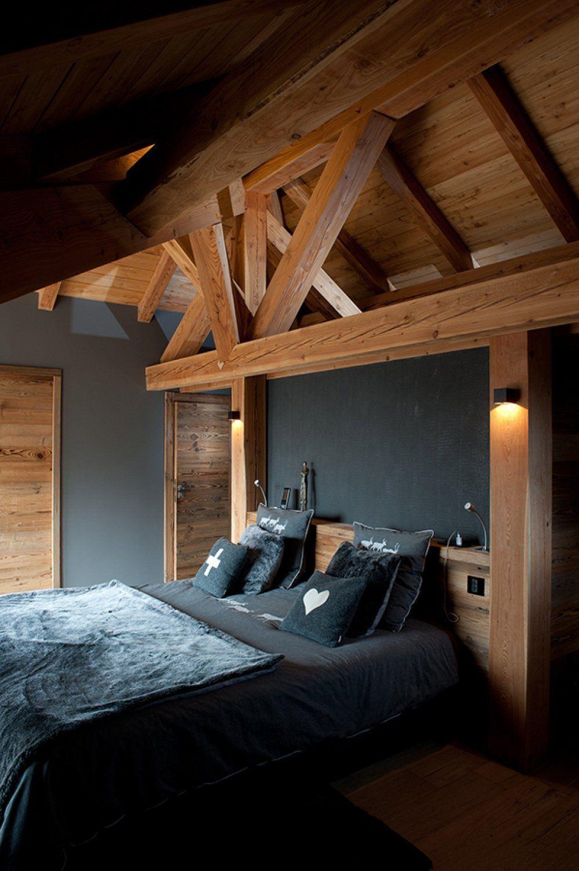Dcoration dintrieur chambre chalet Les 2 Alpes  Chalets Bayrou  ambiance chalet  Maison