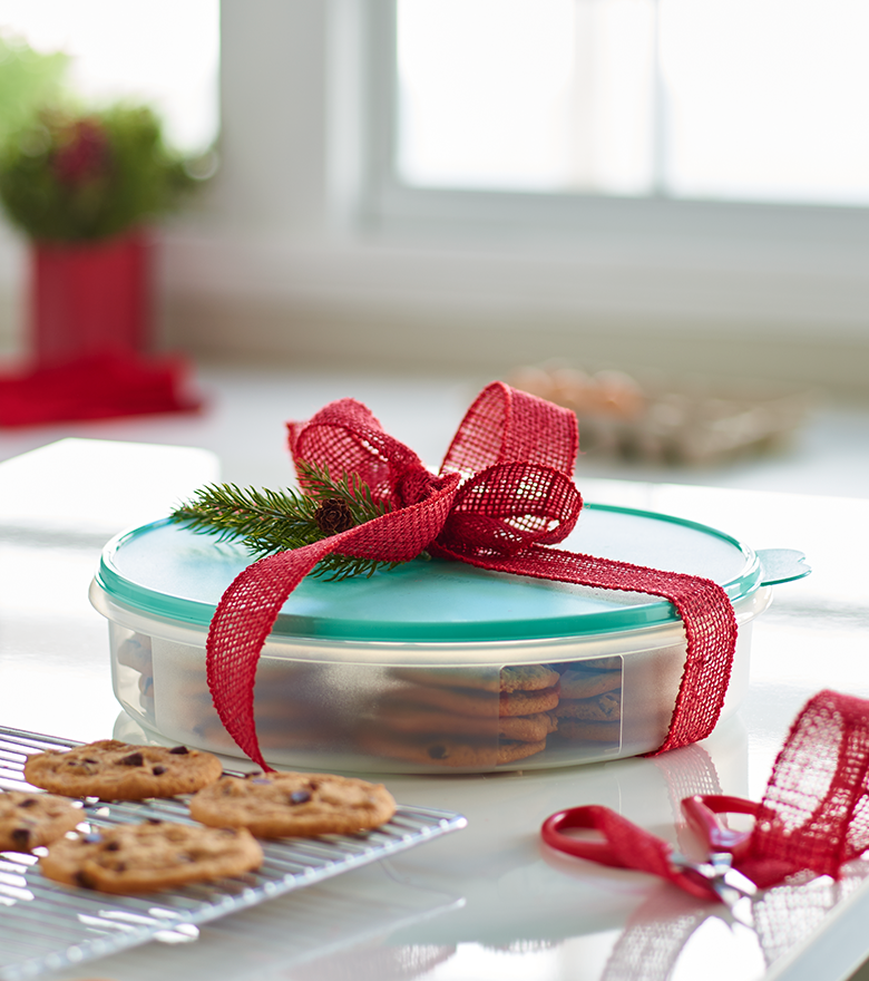 Share Sweet Treats In The Round Container.
