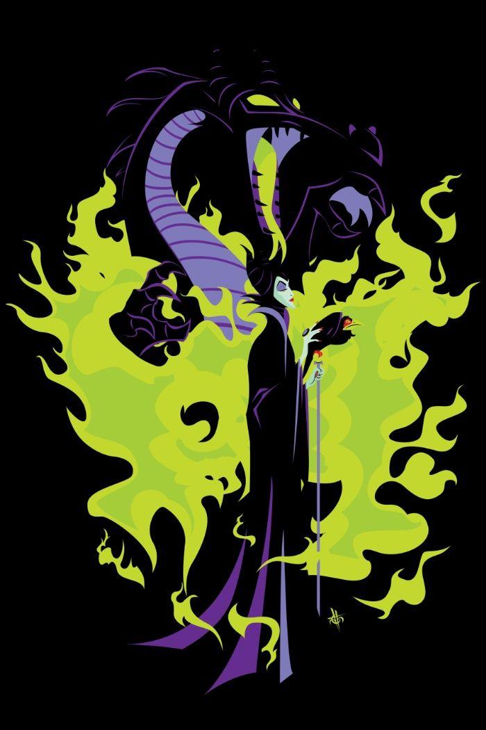 Maleficent Mistress Of All Evil Art Print Villanos Disney