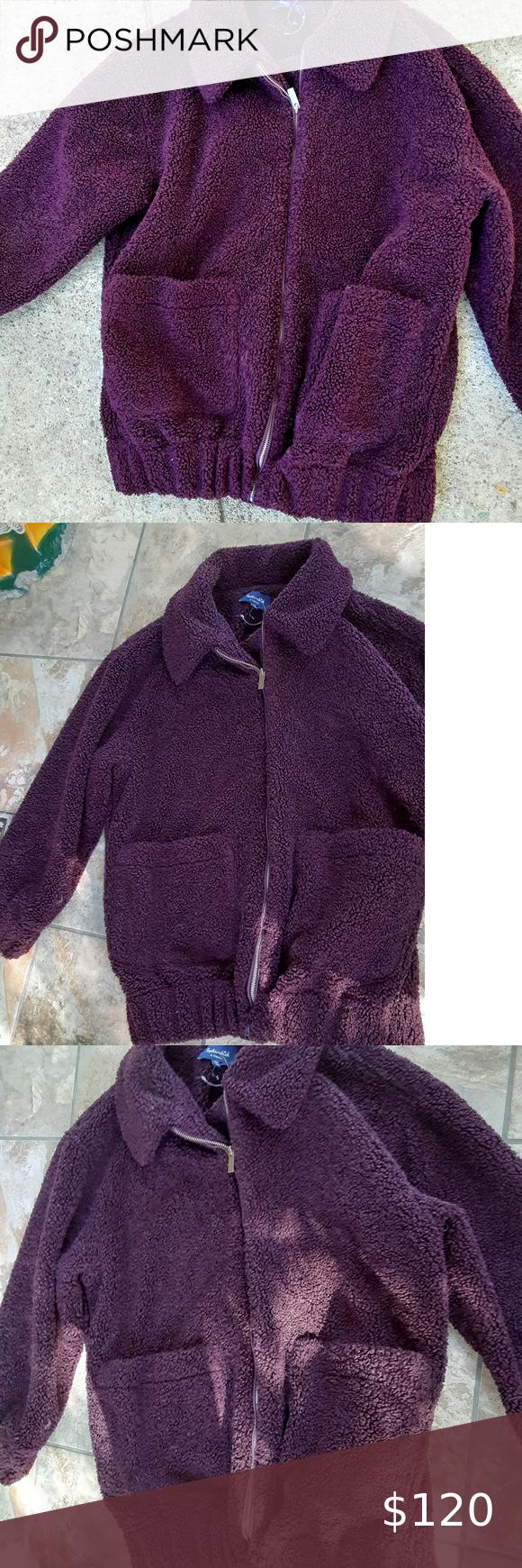 NWOT Splendid Sherpa Zip Jacket XS  fits like S/M