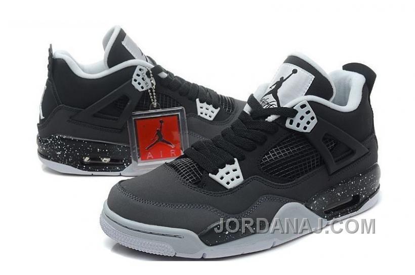 huge discount 039c5 8c29a Air Jordan 4 (IV) Retro Stealth-Oreo Dark Grey Mid Grey-