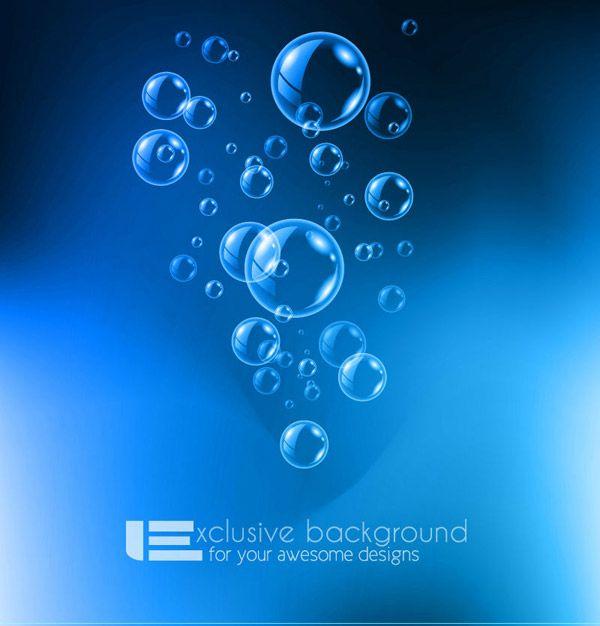Bolle Blu Sfondo Acqua Acqua Bolle Disegno Vettoriale E Sfondi