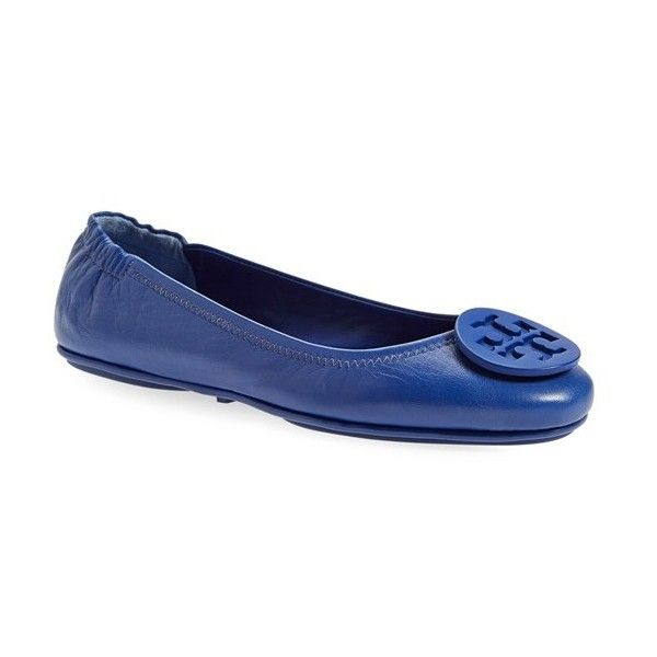 Tory Burch 'Minnie' Travel Ballet Flat with Logo (1 905 SEK) ❤