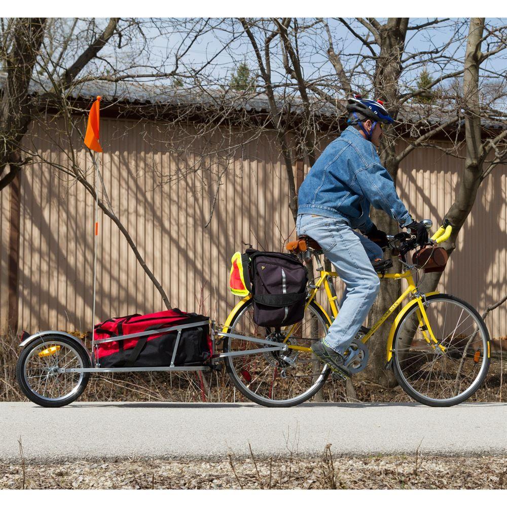 Apex single wheel bicycle cargo trailer bicycle cargo