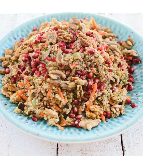 Moroccon Spiced Quinoa Buckwheat And Eggplant Salad Raw Food Recipes Clean Recipes Vegetarian Recipes