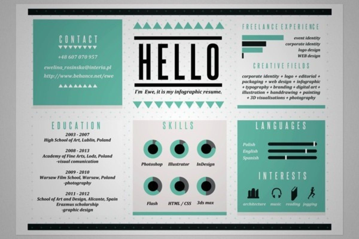 Cool Resume Designs 20 Cool Resume & Cv Designs  Resume Cv