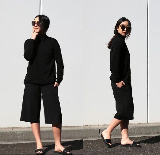 First Light Label Taxi Knit, Boohoo Culottes, Karen Walker Number One Sunglasses