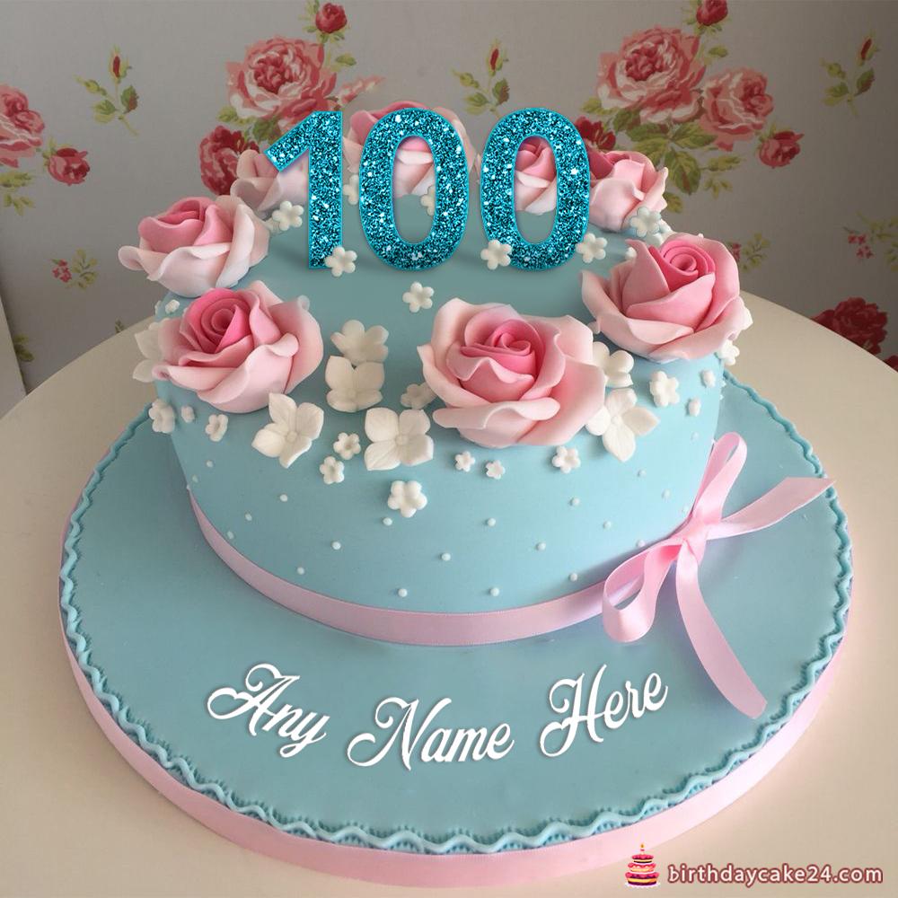 Happy 100th Birthday Cake With Name Cake name, Birthday