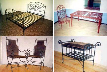 Современная кованая мебель в интерьере