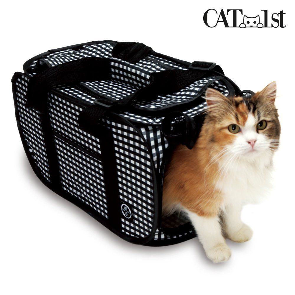 Necoichi Foldable Ultra Light Cat Carrier With Safety Net Trip To