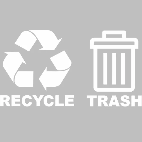 Recycle And Trash Vinyl Decal For Trash Can Bin Vinyl Decals Recycling Recycle Trash
