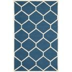 Photo of Safavieh Cambridge Marineblau / Elfenbein 4 Fuß x 6 Fuß Area Rug-CAM144G-4 – The Home Depot