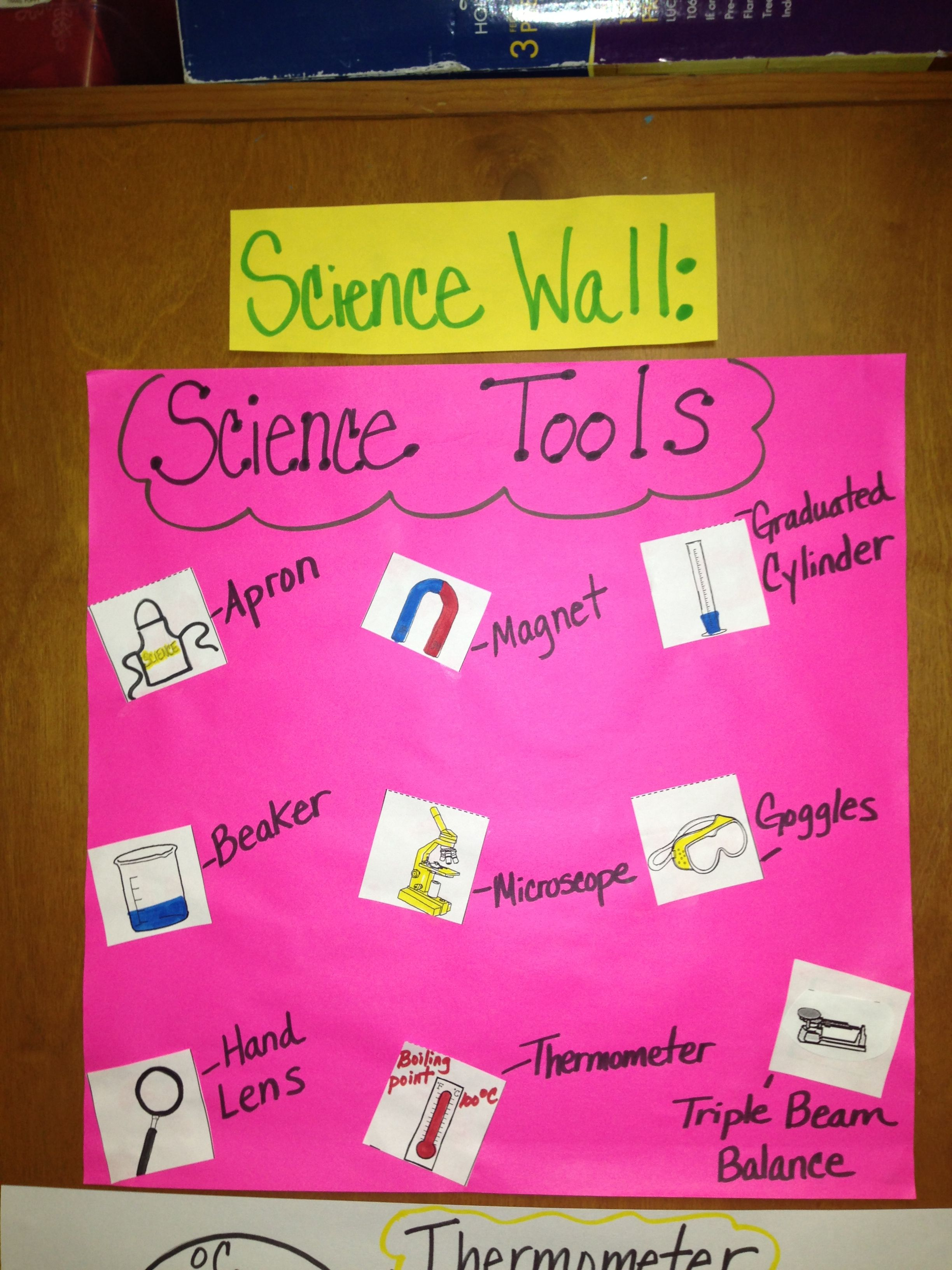 Science Tools Anchor Chart Science tools anchor chart