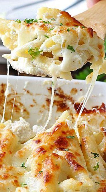 Chicken Alfredo Pasta Bake Recipe Favorite Recipes Alfredo Pasta Bake Pasta Sausage