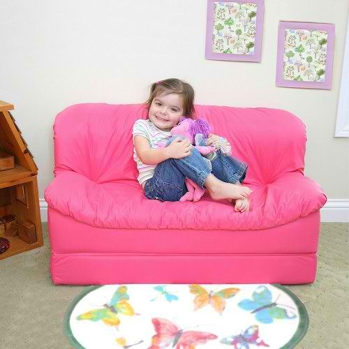 pink sofa bed couch bed for kids