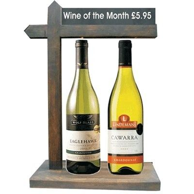 Wine of the Month Display Stand Chalkboard Header Panel Perfect Wine Display Backbar Display www.bhma.co.uk 01353 665141