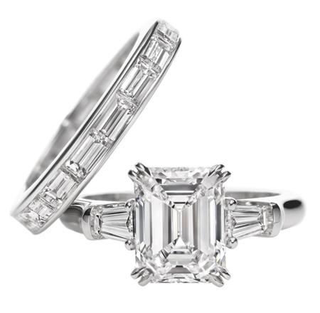 Classic Winston Emerald cut Ring Emerald cut diamond engagement