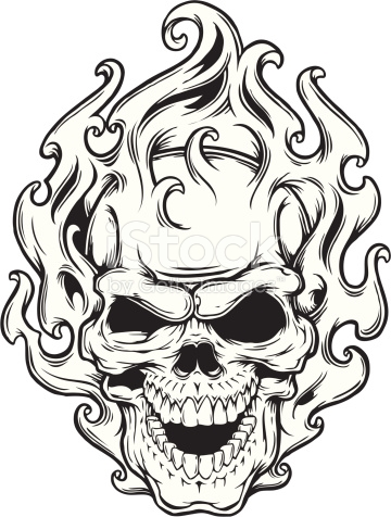 Cool Flaming Skull Coloring Pages Skulls Drawing Skull Coloring Pages Skull Stencil