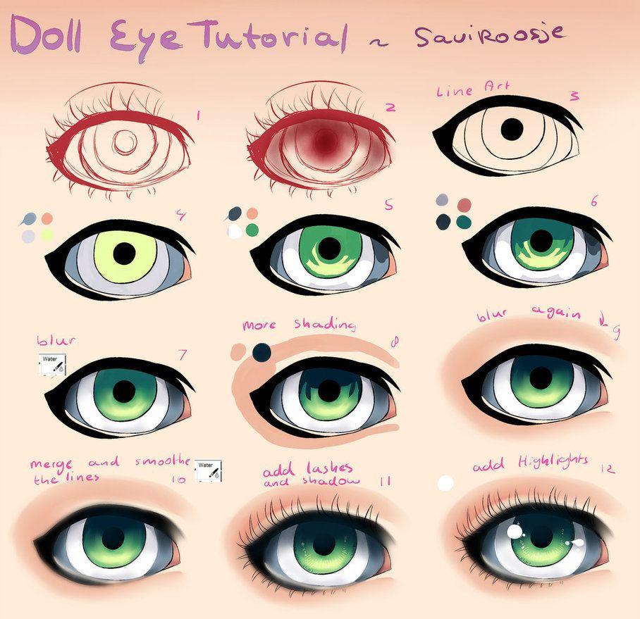Step by Step Doll Eye Tutorial by Saviroosje on