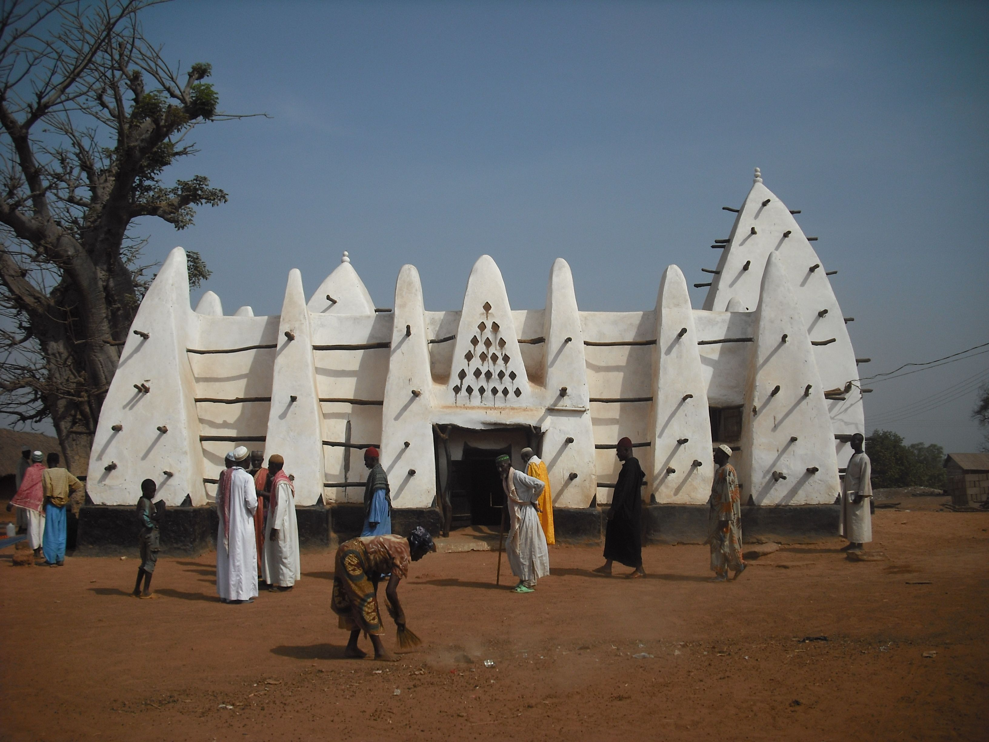 larabanga mosque in gonja land, ghana. though this is not in the