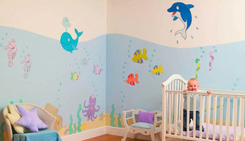 Pintura decorativa para habitaciones bebes buscar con - Pintura habitaciones ninos ...
