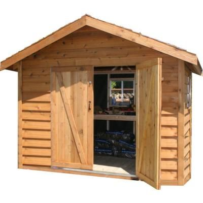Star Lumber Deluxe 8 Ft X 6 Ft Cedar Bevel Siding Storage Shed Kit Ys86d The Home Depot Storage Shed Kits Shed Kits Cedar Shed