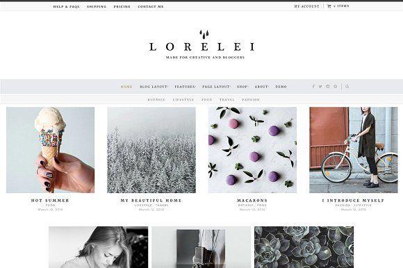 LORELEI - Nordic Blog  Shop Theme by Sparrow  Snow on