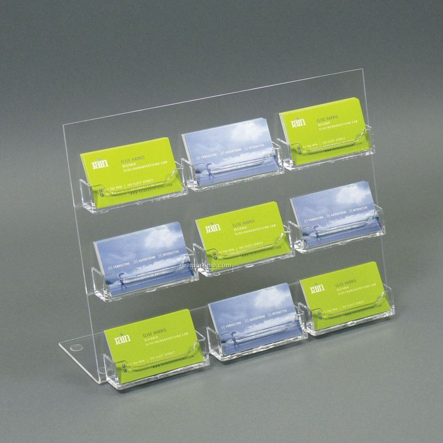 Clear Plastic Business Card Inhabern In Verbindung Mit