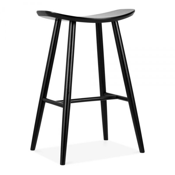 Phenomenal Cult Living Hatton Wooden Bar Stool Black 72Cm Scandi Gmtry Best Dining Table And Chair Ideas Images Gmtryco