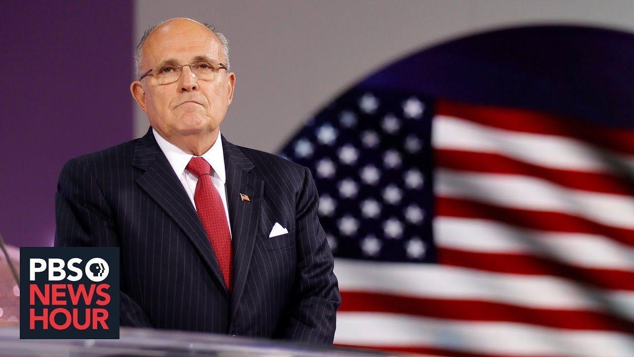 How Rudy Giuliani Went From America S Mayor To Ukraine Business Broker With Images Rudy Giuliani Pbs Newshour America