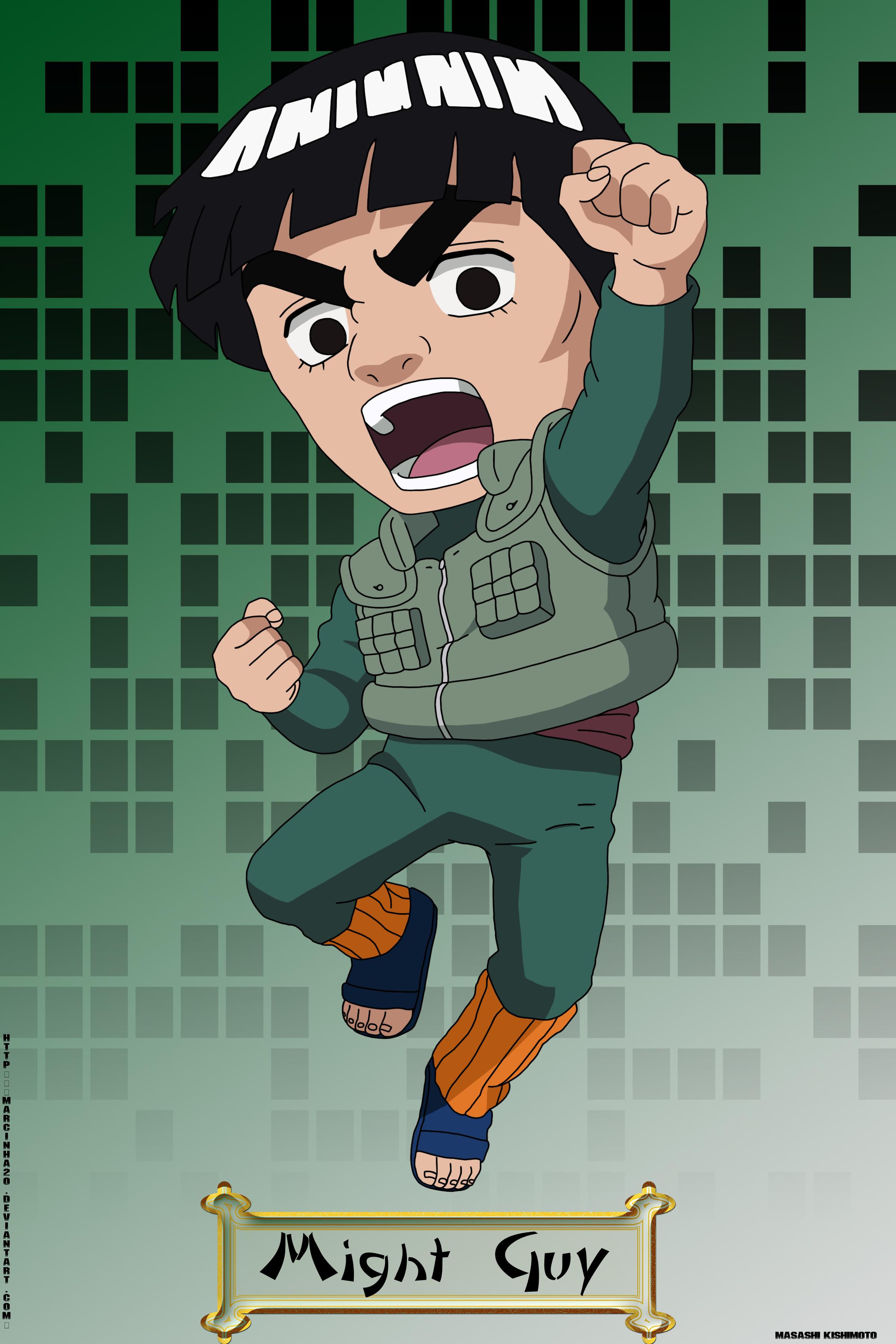Chibi Might Guy Might Guy Naruto Naruto Shippuden Pinterest
