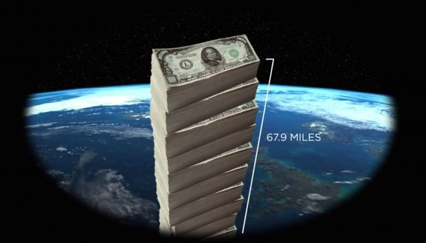 It's a million millions. It's a stack of thousand-dollar bills nearly 70 miles high. A trillion dollars is an awful lot of money, but humans have trouble wrapping their brains around the sheer magnitude of the number — and when political leaders sign countries up for massive...