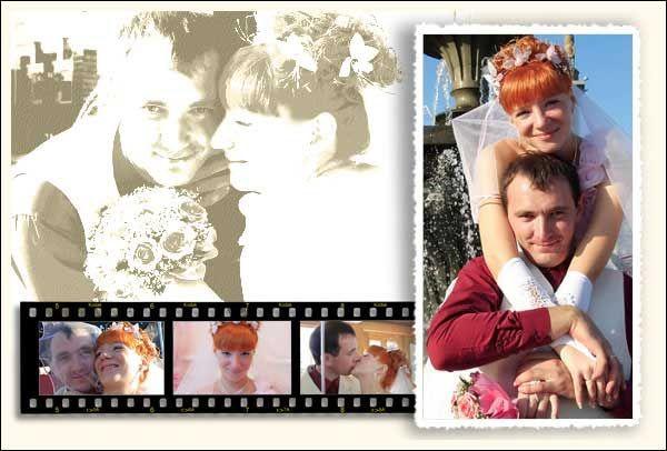 Wedding poster from 5 wedding photos. samples: www.photoartomation