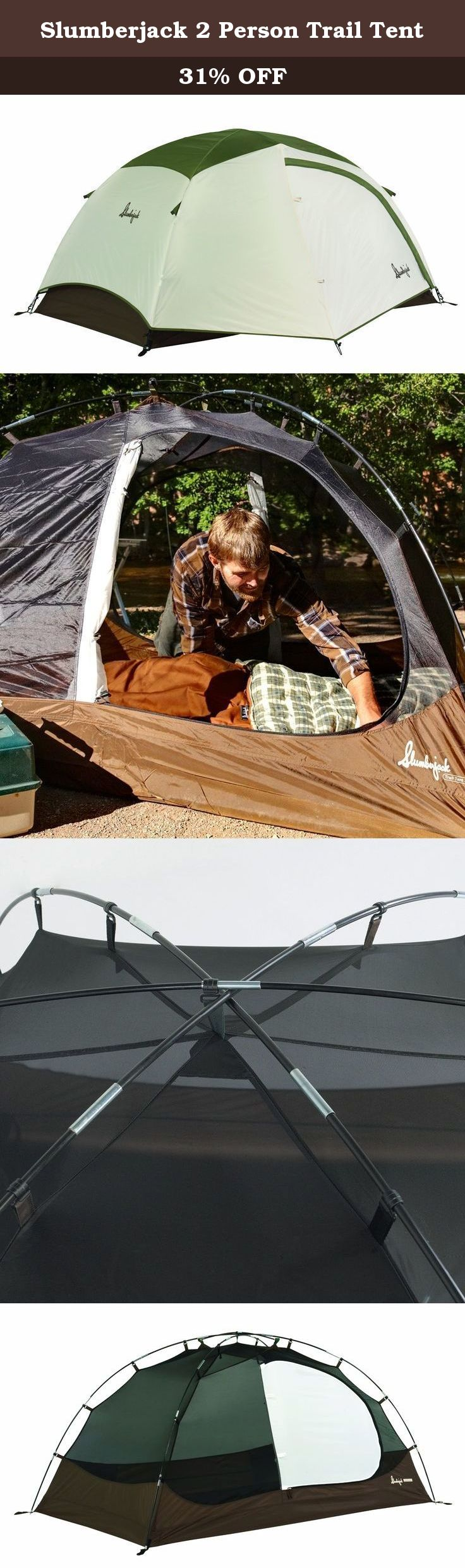 Slumberjack 2 Person Trail Tent. Ideal for backpacking fishing trips c&ing festival events or any weekend getaway. The Slumberjack Trail Tent offers ... & Slumberjack 2 Person Trail Tent. Ideal for backpacking fishing ...