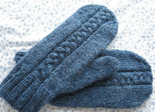 Fine Free Knitting Pattern Mittens Image Easy Scarf Knitting