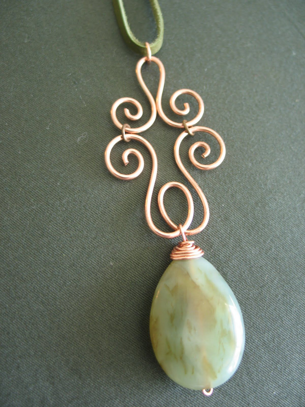 Awesome and unusual wire wrapped bail for pendant.  LilyGirl Jewelry: In the Studio: Artful Copper