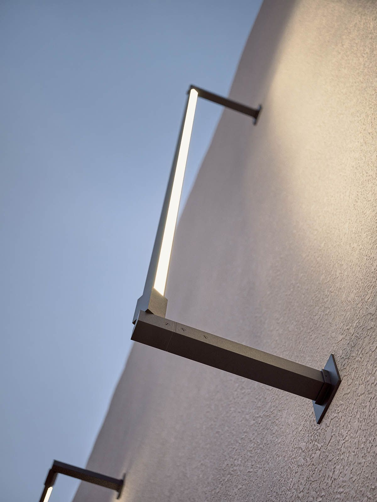 Rail Outdoor Lighting System Commercial Outdoor Lighting Facade Lighting Modern Exterior Lighting