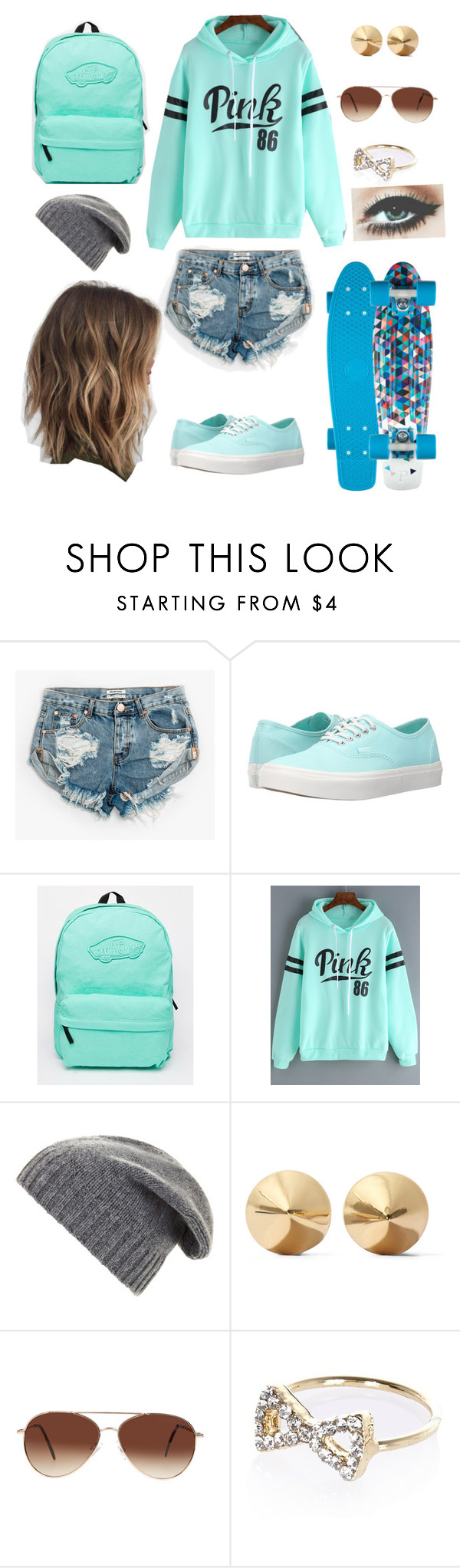 """Let's Go Boardin"" by laurenbrgr ❤ liked on Polyvore featuring One Teaspoon, Vans, BCBGMAXAZRIA, Eddie Borgo, Eloquii and River Island"