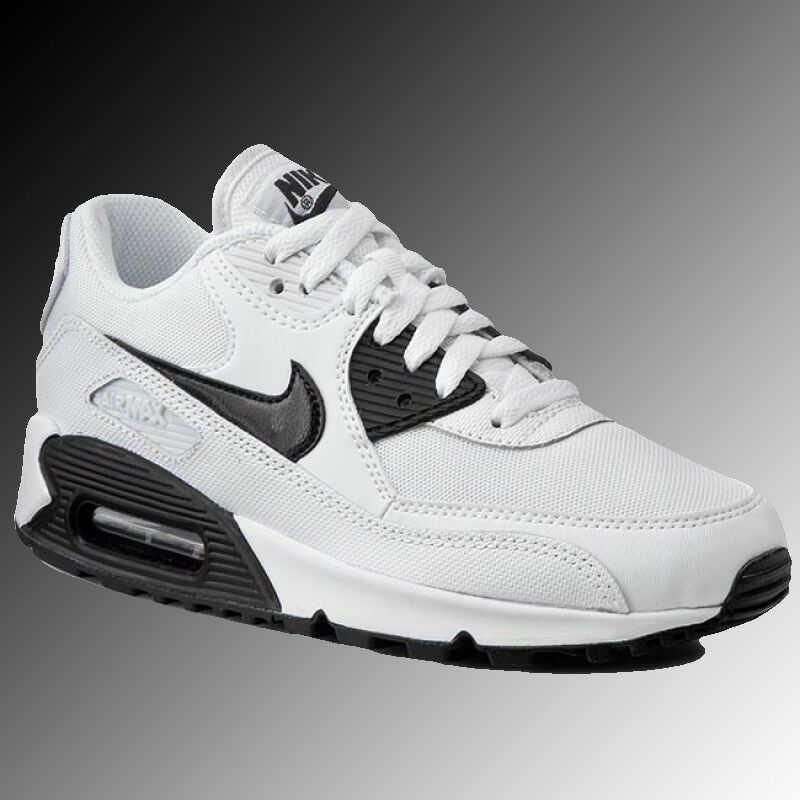 35a4b8a3e8 NIKE Air Max 90 Essential Shoes 616730-110 White & Black Womens Size 7.5 -
