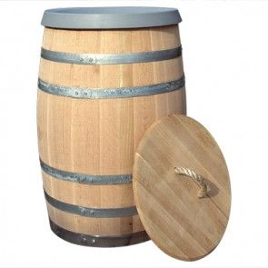 Barrel Trash Cans 30 Gallon Barrel With Rope Handle Lid