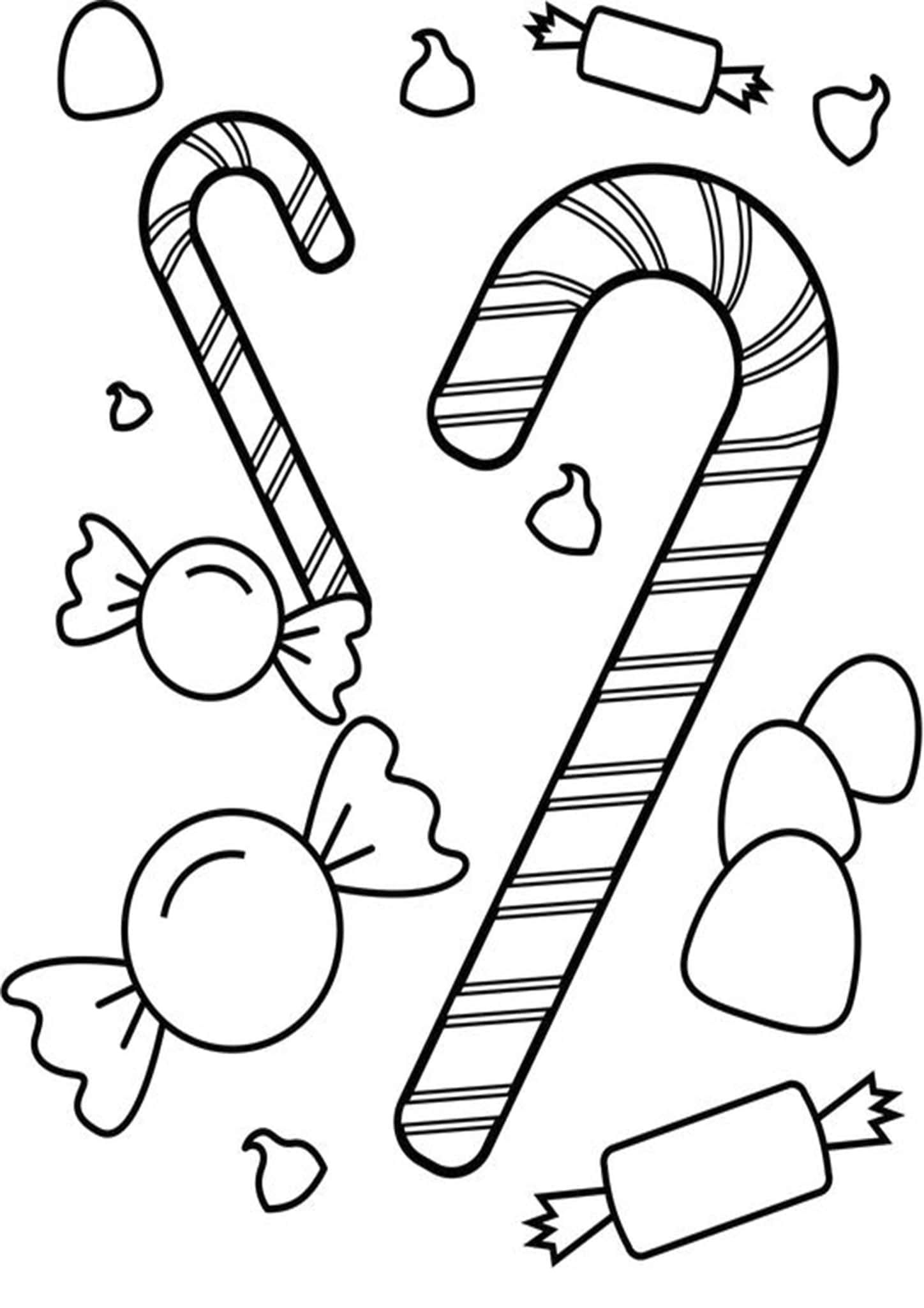 Free Amp Easy To Print Candy Coloring Pages In